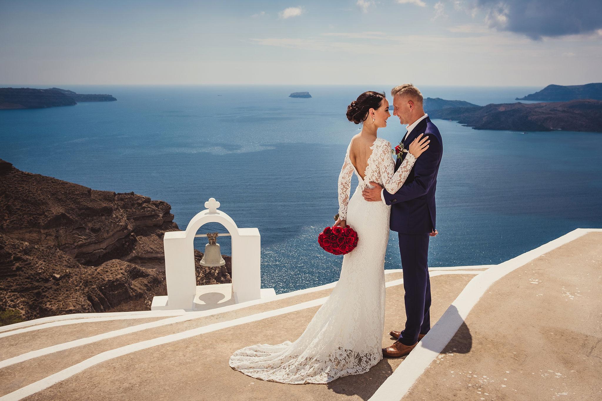 fotografia ślubna Santorini