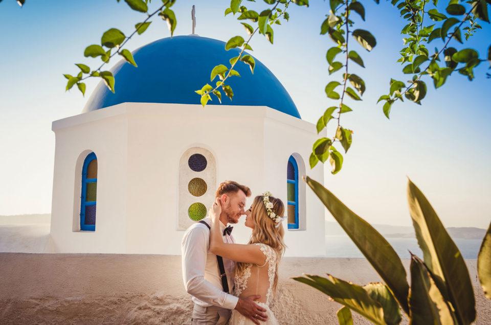 Romantyczny ślub na Santorini
