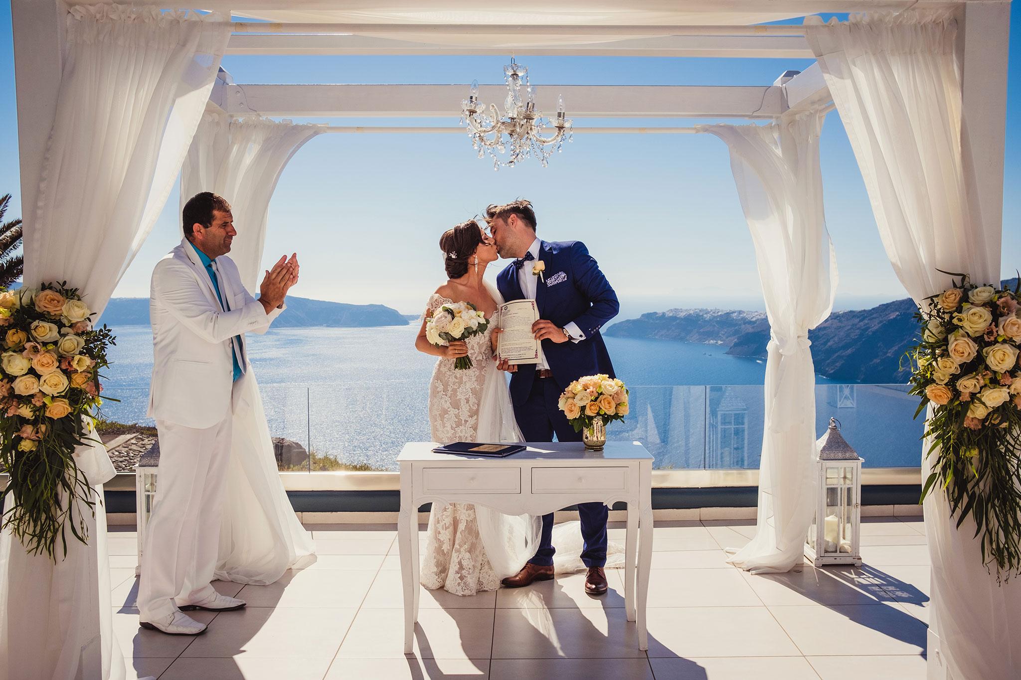 ceremonia ślubna Santorini