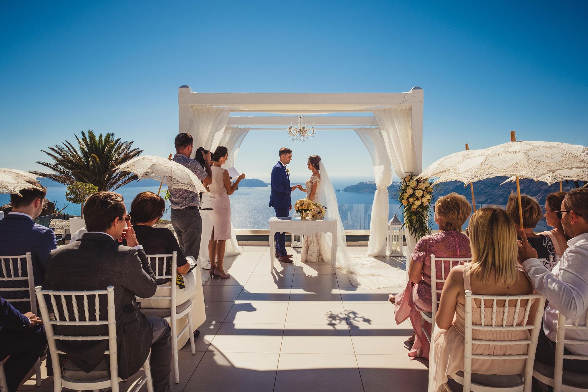 ślub naSantorini