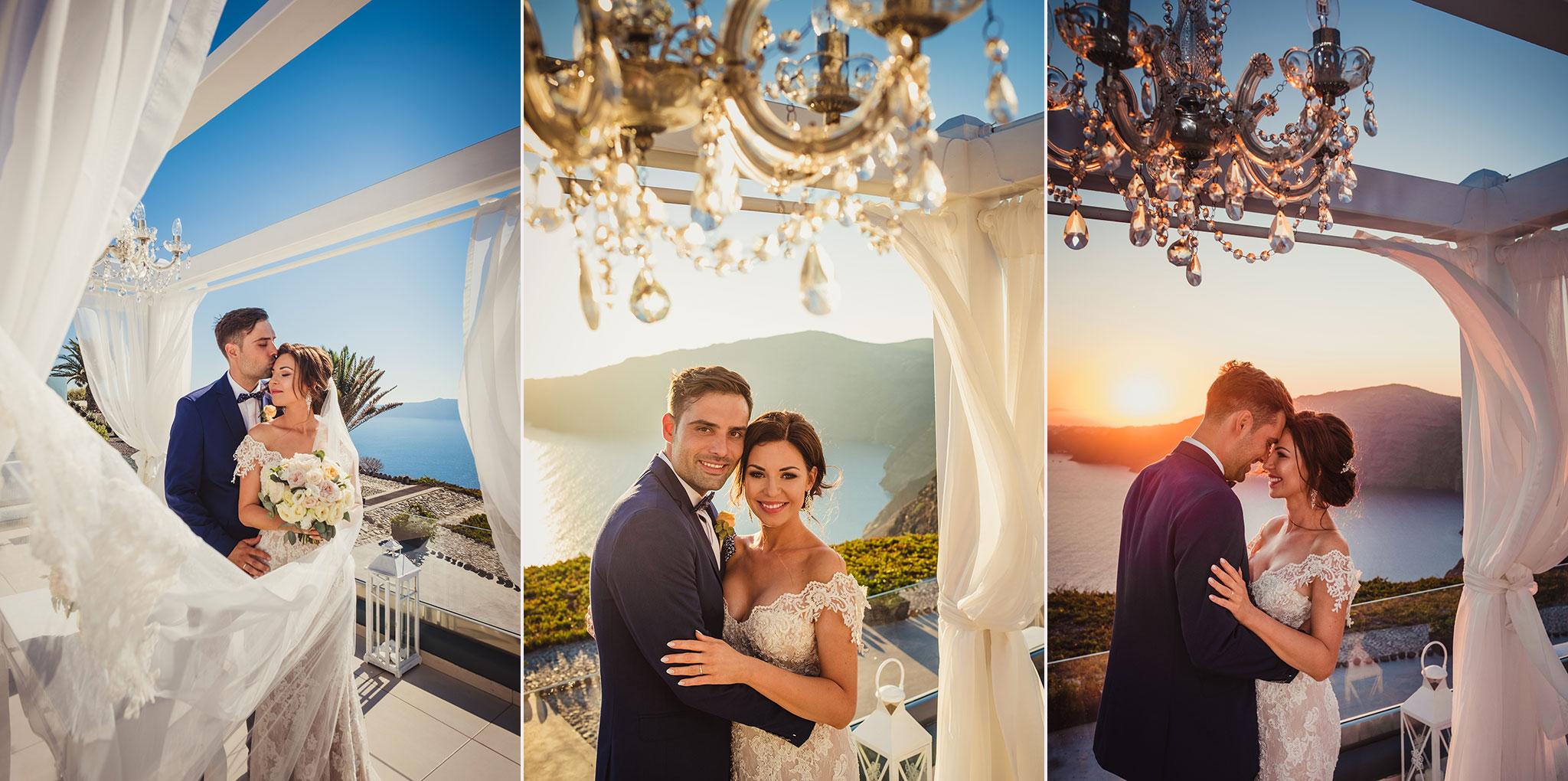 ślub przy zachodzie słońca