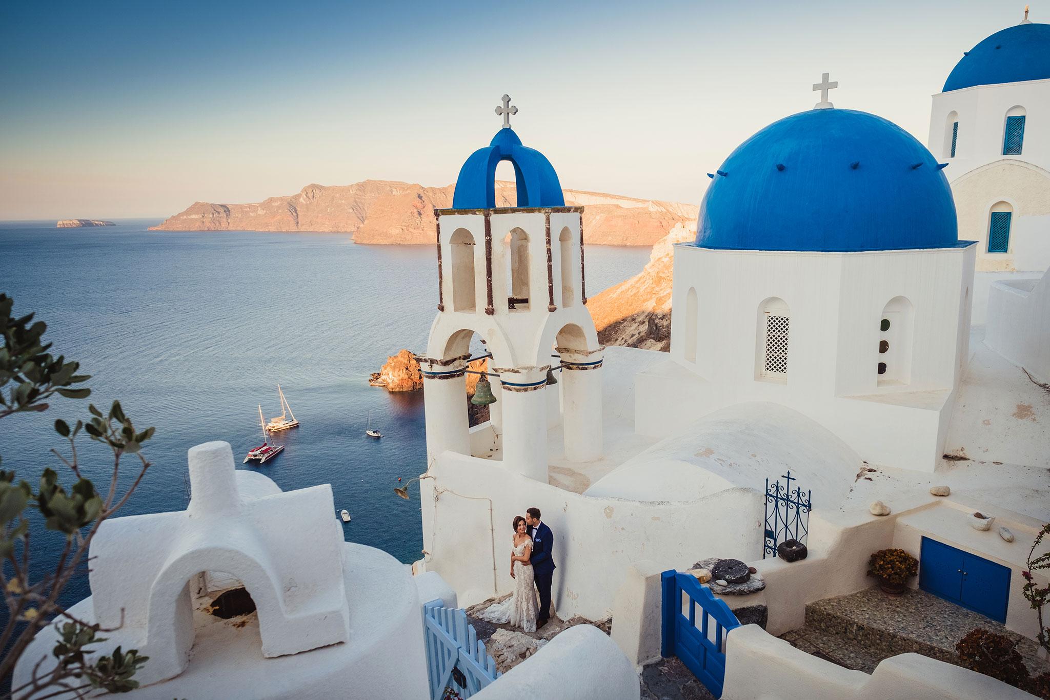zdjęcia ślubne Santorini