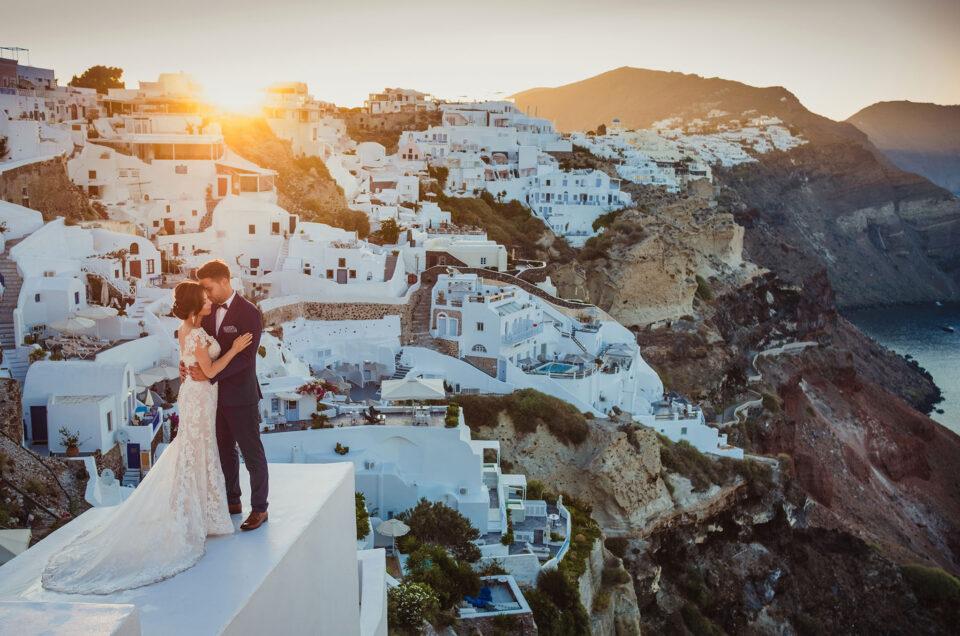 Ślub naSantorini – wblasku słońca